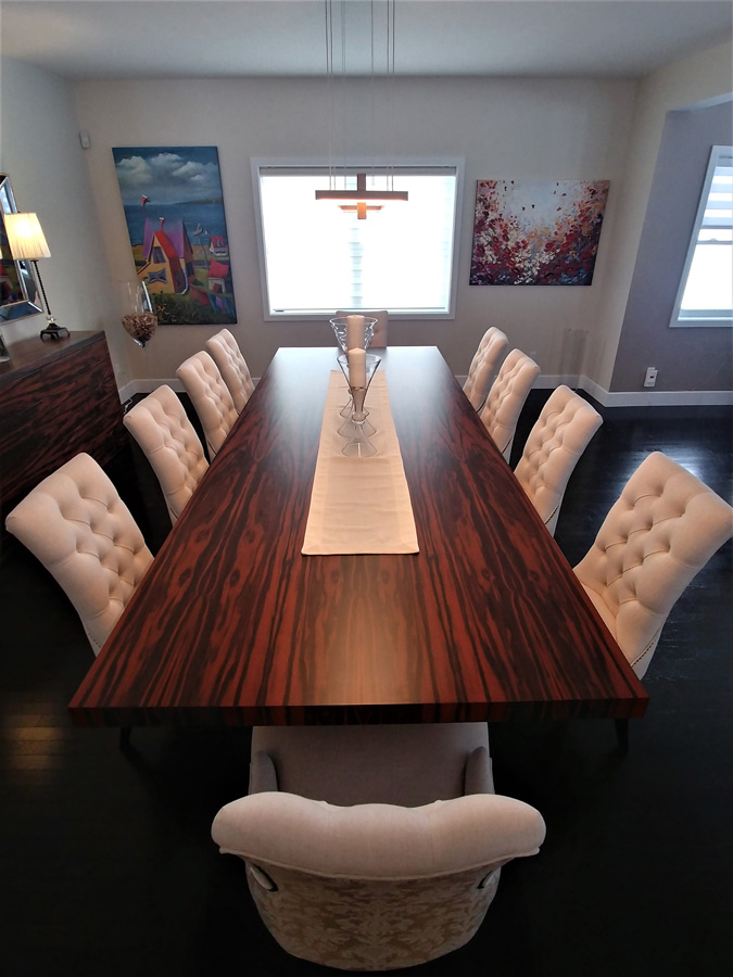 Custom wood furniture Laurentians